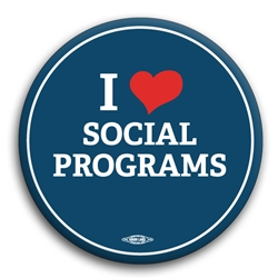 I Heart Social Programs Button