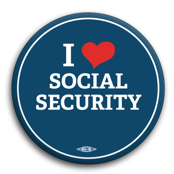 I Heart Social Security Button