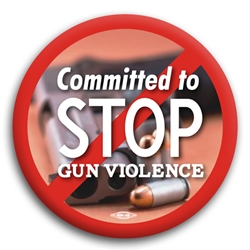 Committed to Stop Gun Violence Button