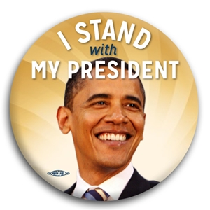 I Stand With My President Button