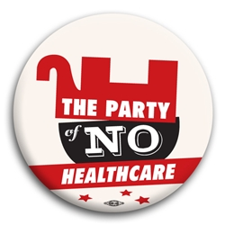 The Party of No Healthcare Button