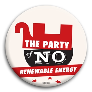 The Party of No Renewable Energy Button