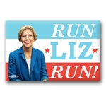 Run Liz Run Elizabeth Warren Button