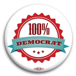 100 Percent Democrat Button