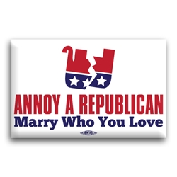 Annoy A Republican Marry Who You Love Button