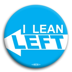 I Lean Left Democratic Button