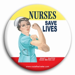 Nurses Save Lives Rosie Button
