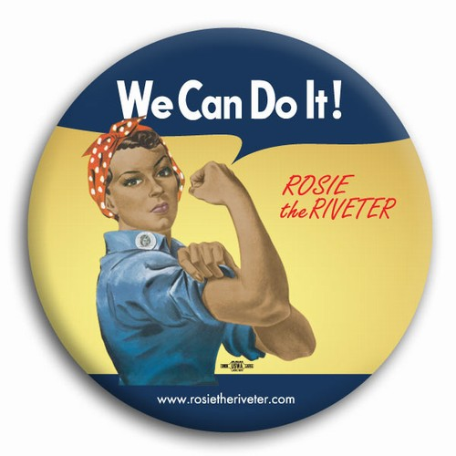 We Can Do It! Ethnic Rosie the Riveter Button