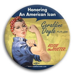 Geraldine Doyle Rosie the Riveter Button