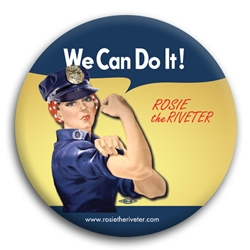 We Can Do It! Police Officer Rosie the Riveter Button