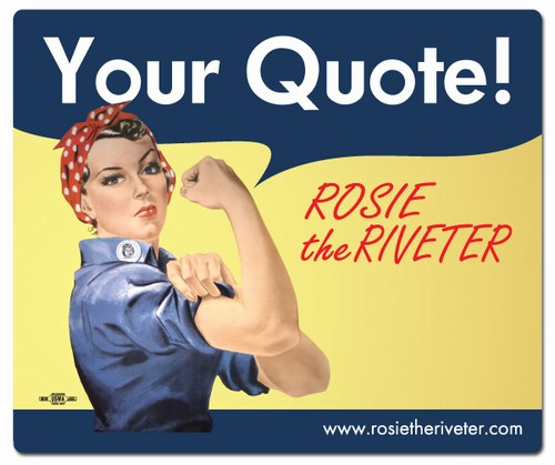 rosie the riveter products on. Black Bedroom Furniture Sets. Home Design Ideas