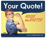 Personalized Rosie the Riveter Mouse Pad