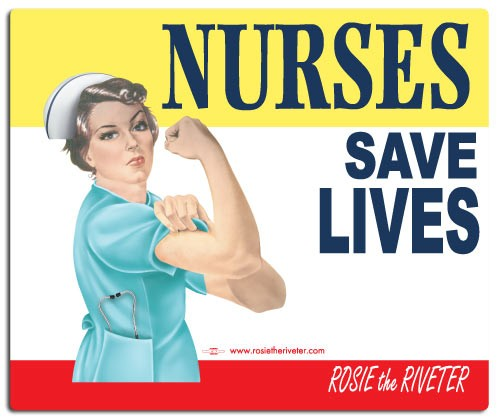 Nurses Save Lives Rosie Mouse Pad