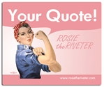 Personalized Pink Rosie the Riveter Mouse Pad