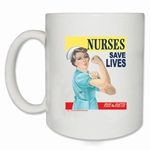 Nurses Save Lives Rosie Coffee Mug