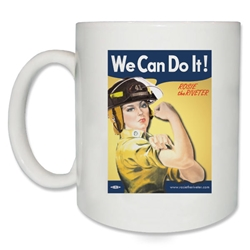 We Can Do It! Firefighter Rosie the Riveter Coffee Mug