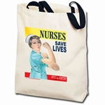 Nurses Save Lives Rosie Totebag