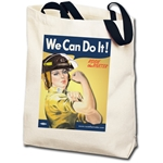 We Can Do It! Firefighter Rosie the Riveter Totebag