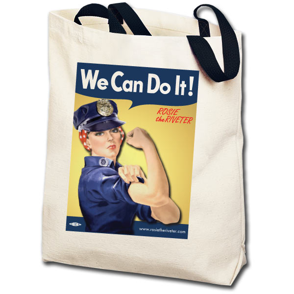 We Can Do It! Police Officer Rosie the Riveter Totebag