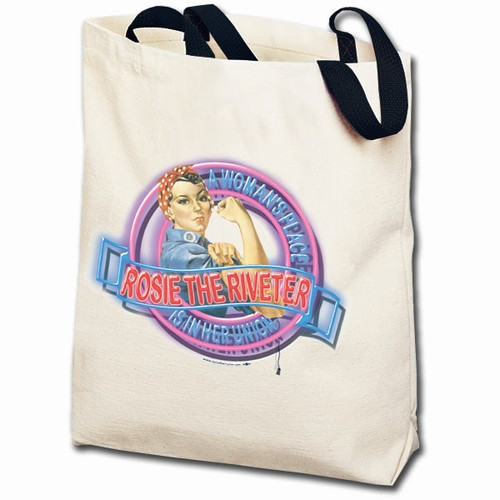Rosie the Riveter Neon Totebag